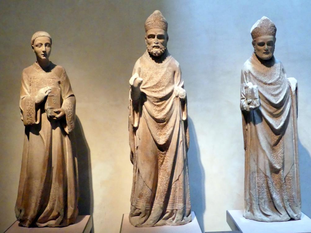 Stadtheilige von Perugia: die hll. Laurentius, Herculanus von Perugia und Constantius von Perugia, um 1315 - 1326
