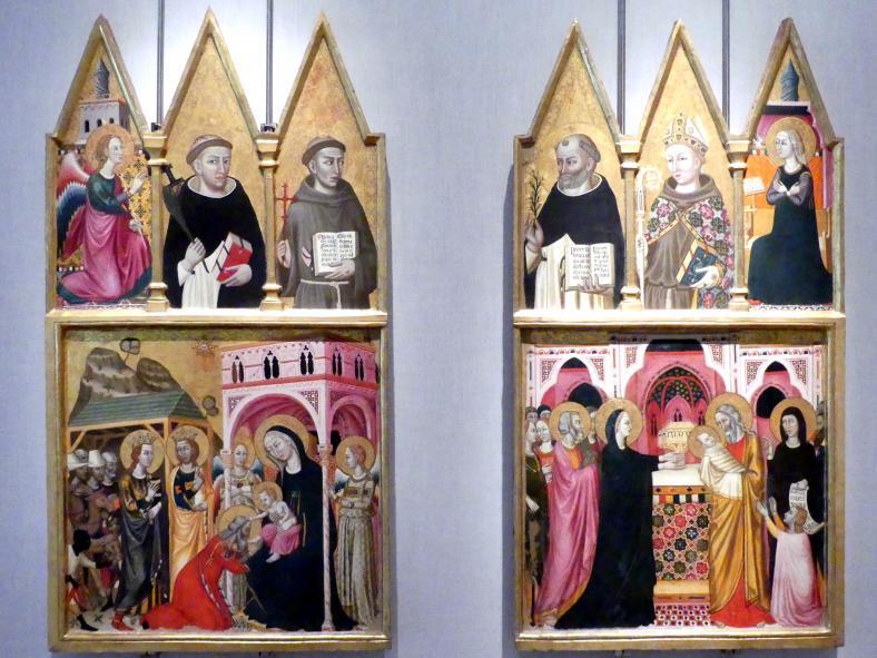 Meister von Paciano (Paciano-Meister): Teile eines Triptychons, um 1330 - 1340