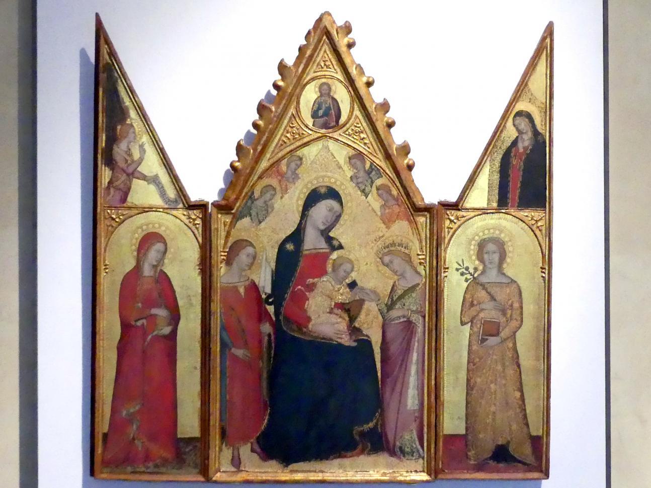 Jacopo di Mino del Pellicciaio: Reisetriptychon, um 1370 - 1390