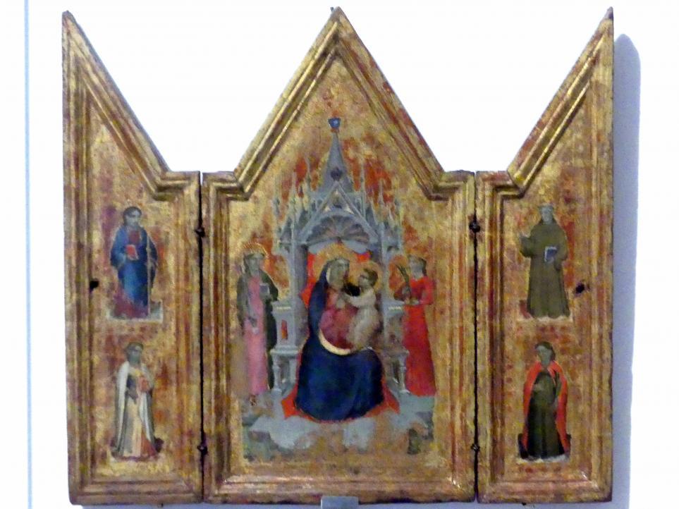 Reisetriptychon, um 1380 - 1390