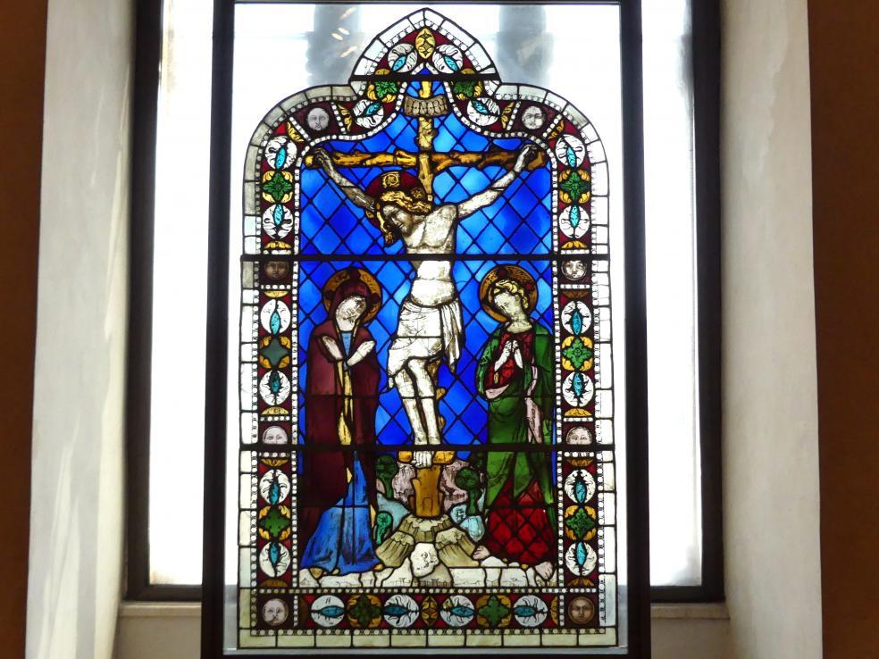 Giovanni di Bonino: Glasfenster mit Kreuzigungsszene, um 1340 - 1345