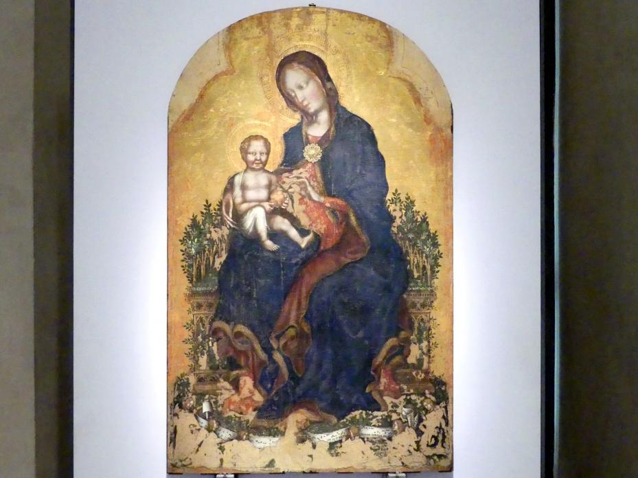 Gentile da Fabriano: Thronende Maria mit Kind und Engeln, um 1405 - 1410