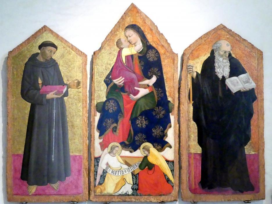 Pellegrino di Giovanni: Triptychon, um 1410 - 1420