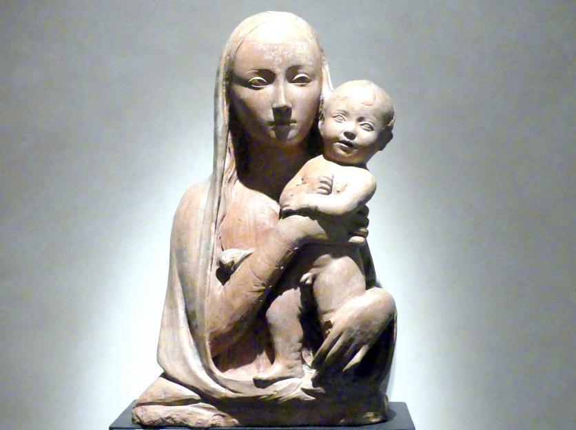 Agostino di Duccio: Maria mit Kind, um 1457 - 1461