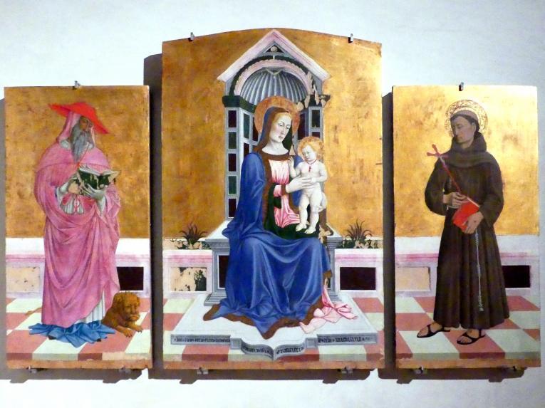 Giovanni Francesco aus Rimini: Triptychon, um 1464 - 1470, Bild 1/4