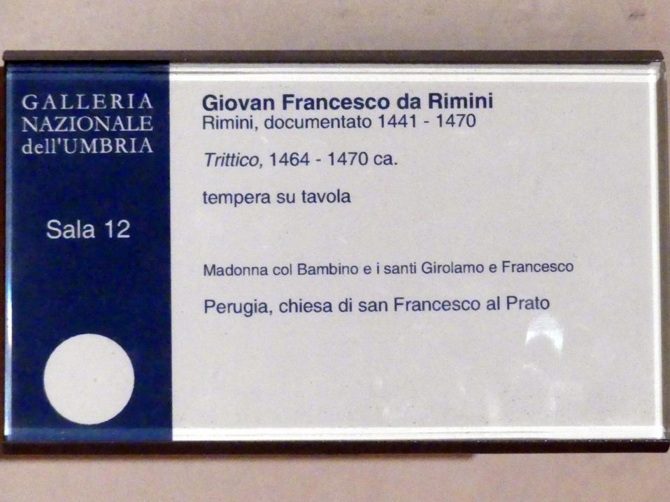 Giovanni Francesco aus Rimini: Triptychon, um 1464 - 1470, Bild 4/4