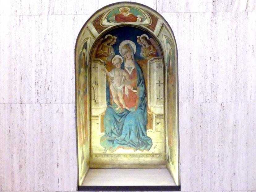 Matteo da Gualdo: Thronende Maria mit Kind, 1488