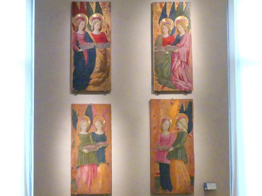 Benedetto Bonfigli: Engel, die Rosen anbieten, 1466