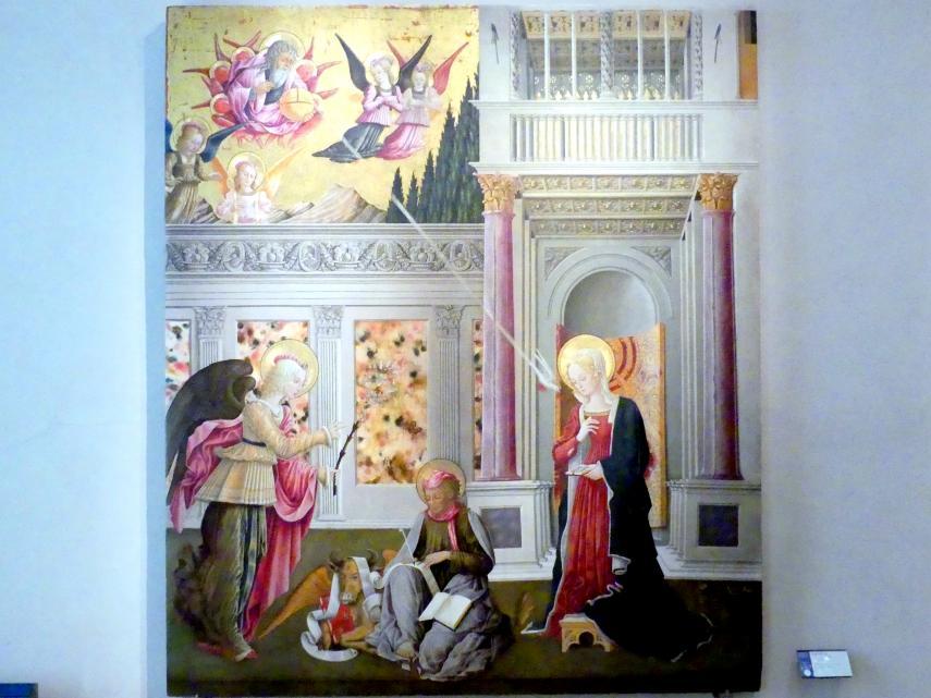 Benedetto Bonfigli: Verkündigung der Notare, Um 1450 - 1453