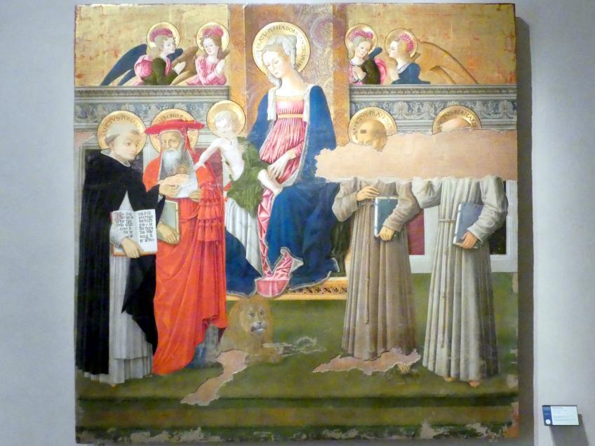 Benedetto Bonfigli: Madonna mit Heiligen, um 1450 - 1453