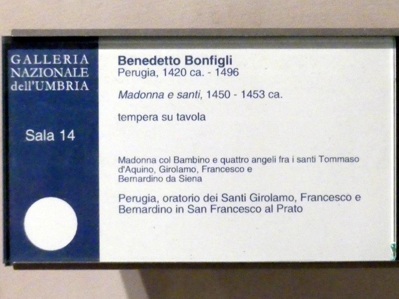 Benedetto Bonfigli: Madonna mit Heiligen, um 1450 - 1453, Bild 2/2