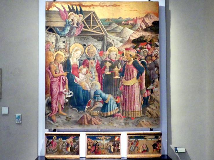 Benedetto Bonfigli: Anbetung der Könige, 1466