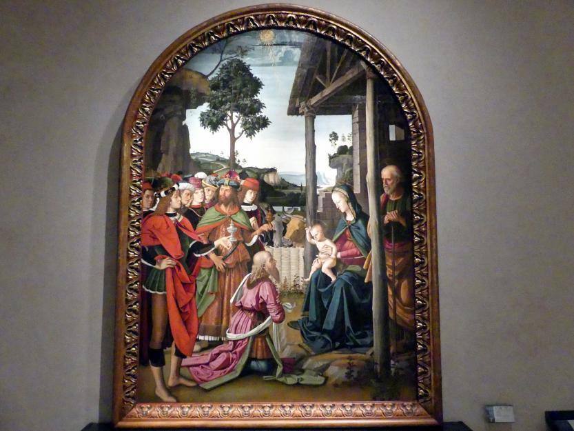 Pietro Perugino (Pietro di Cristoforo Vannucci): Anbetung der Könige, um 1473 - 1475
