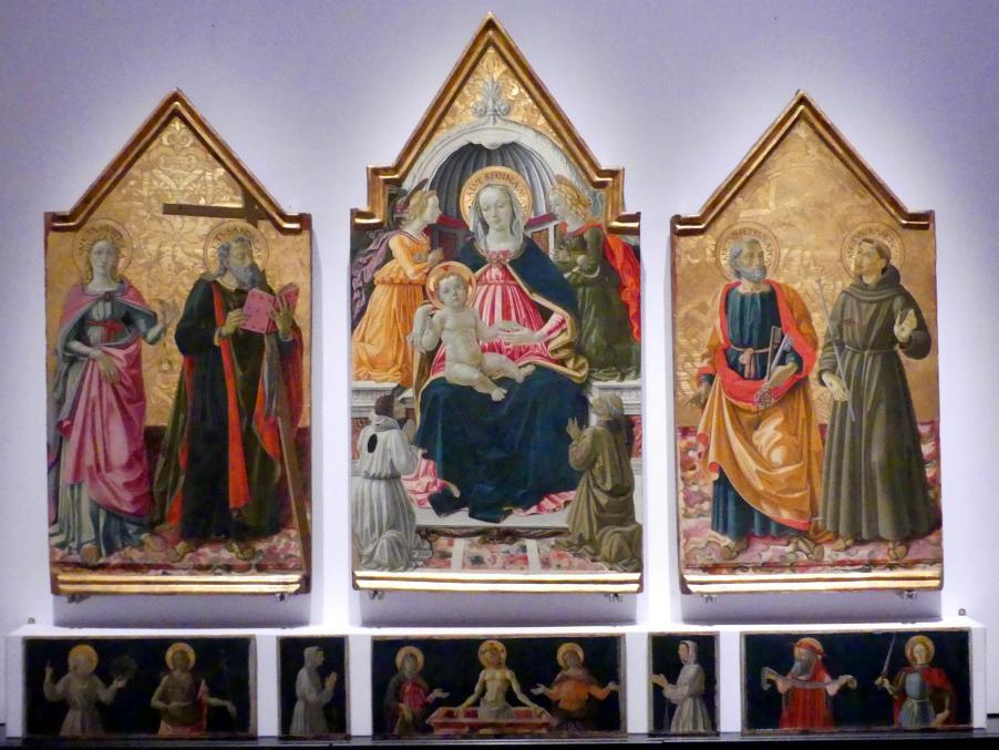 Bartolomeo Caporali: Triptychon der Gerechtigkeit, 1475