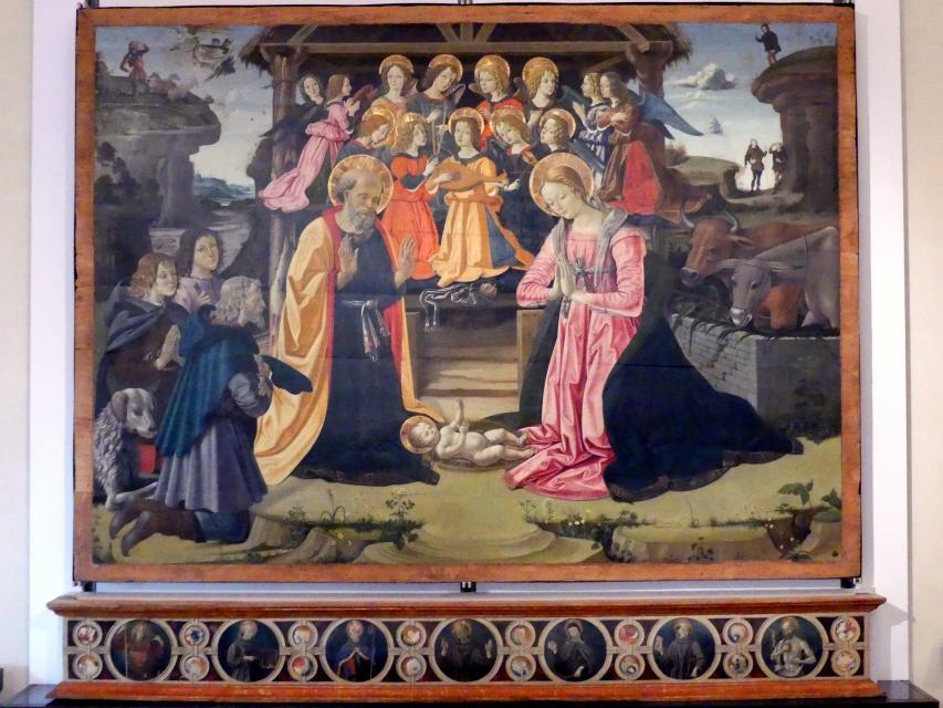 Bartolomeo Caporali: Anbetung von Monteluce, um 1477 - 1479