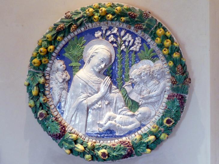Benedetto Buglioni: Anbetung des Christkindes, um 1487 - 1489