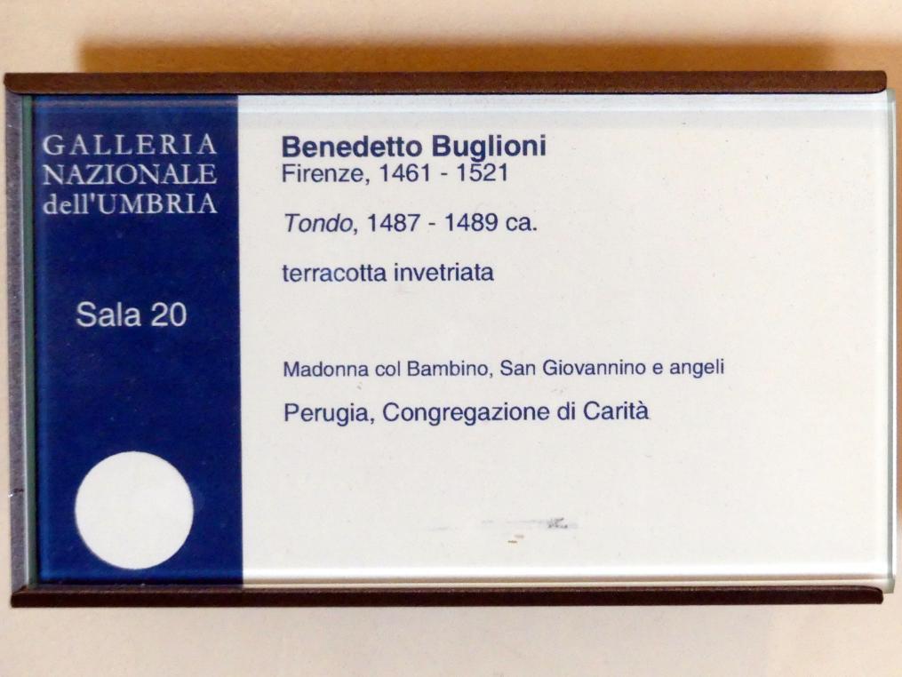 Benedetto Buglioni: Anbetung des Christkindes, um 1487 - 1489, Bild 2/2