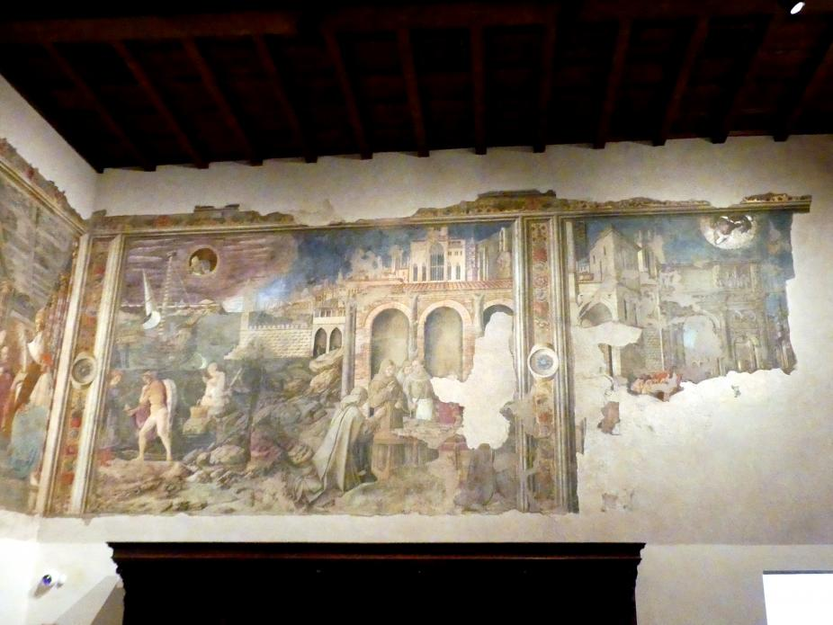 Benedetto Bonfigli: Wunder der hll. Ludwig von Toulouse und Herculanus von Perugia, Um 1454 - 1480