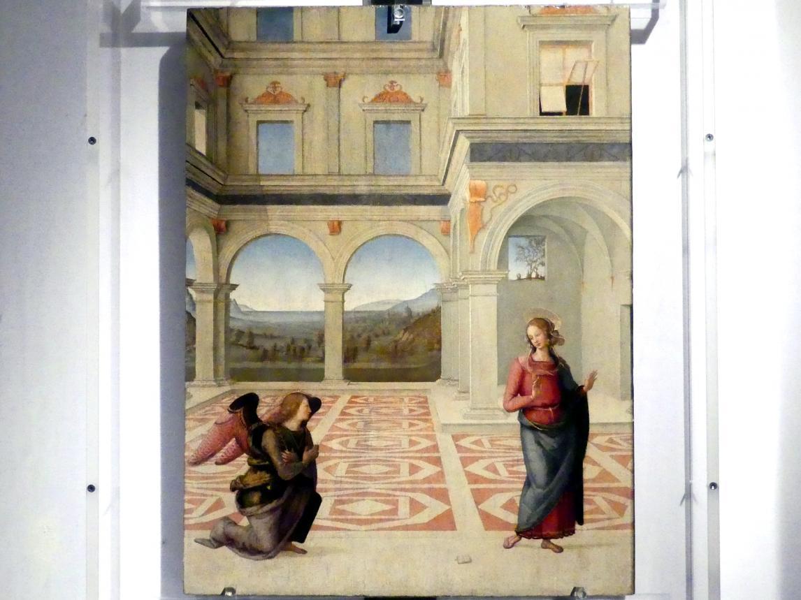 Pietro Perugino (Pietro di Cristoforo Vannucci): Mariä Verkündigung, Letztes Viertel 15. Jhd.