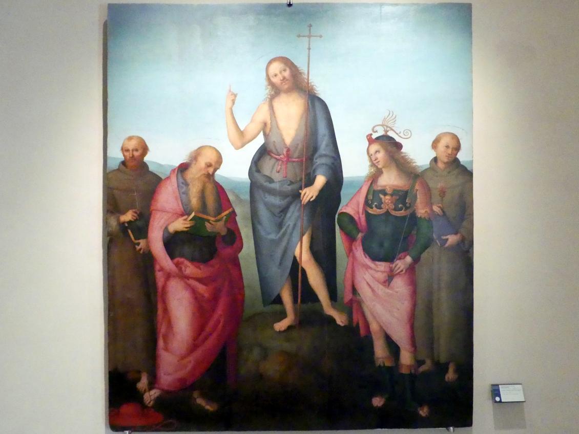 Pietro Perugino (Pietro di Cristoforo Vannucci): Johannes der Täufer und Heilige, um 1500 - 1510