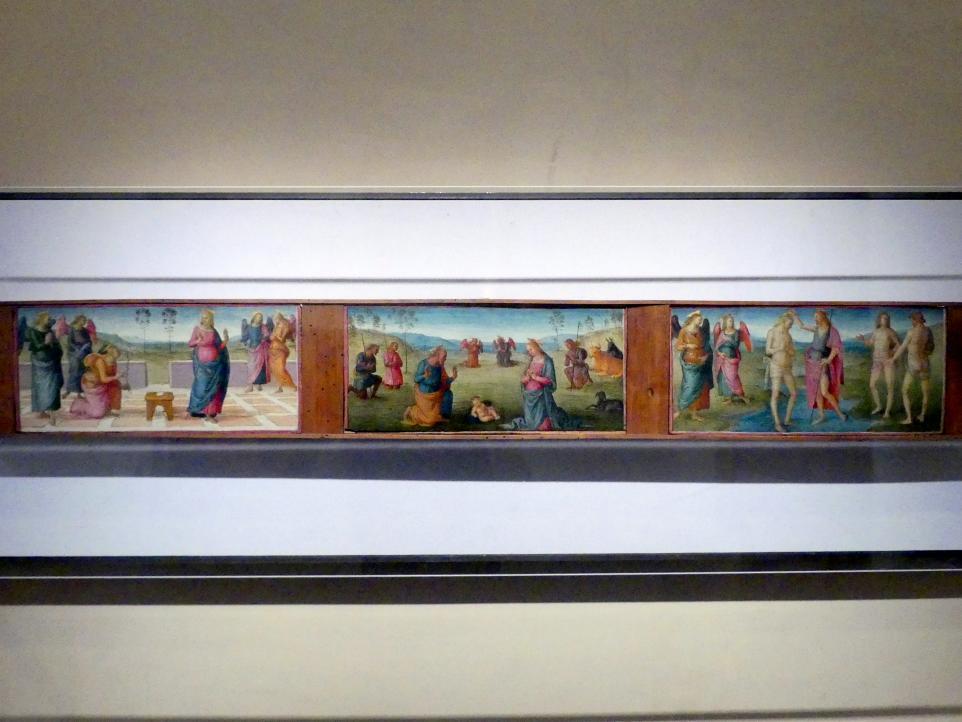 Pietro Perugino (Pietro di Cristoforo Vannucci): Predella, um 1507 - 1515