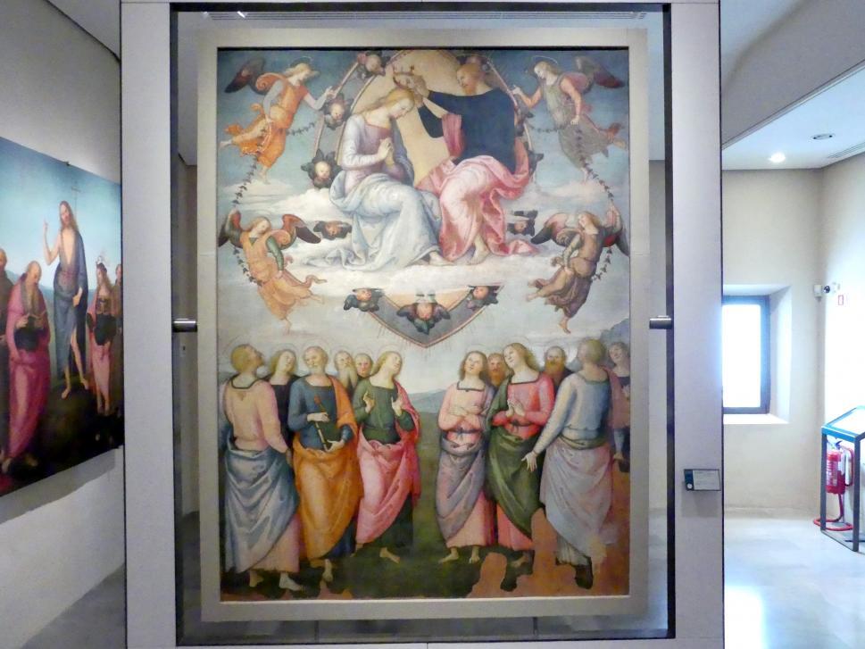 Pietro Perugino (Pietro di Cristoforo Vannucci): Marienkrönung, um 1502 - 1504