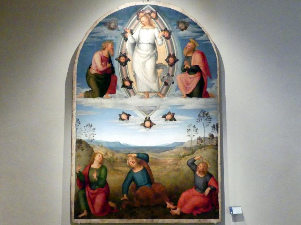 Pietro Perugino (Pietro di Cristoforo Vannucci): Verklärung des Herrn, um 1517