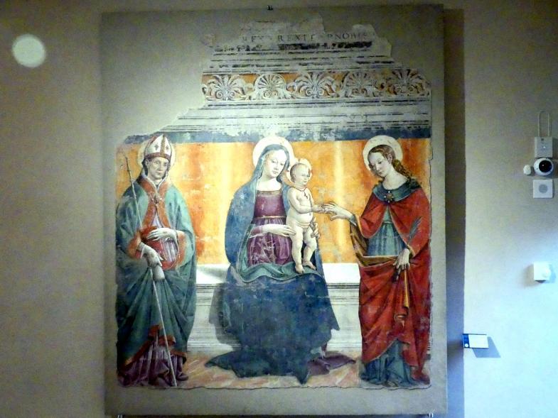 Fiorenzo di Lorenzo: Mystische Vermählung der Heiligen Katharina von Alexandrien, 1498