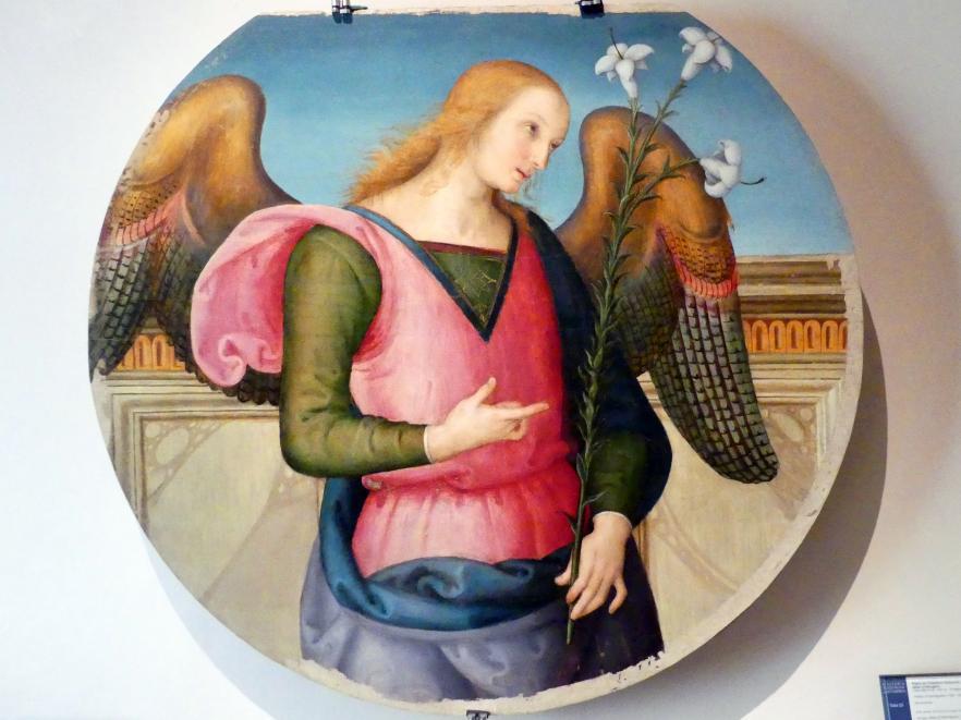 Pietro Perugino (Pietro di Cristoforo Vannucci): Erzengel Gabriel, um 1502 - 1523