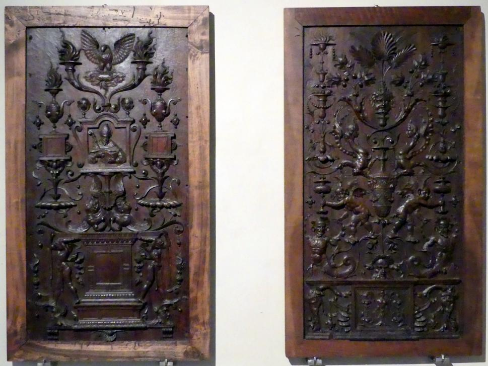 Baccio d'Agnolo (Bartolomeo Baglioni): Zwei Chorgestühl-Wände, um 1502 - 1535