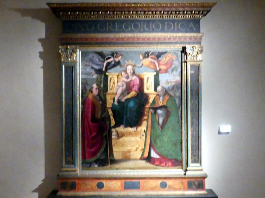 Domenico Alfani (Domenico di Paride Alfani): Thronende Maria mit Kind und Heiligen, 1518