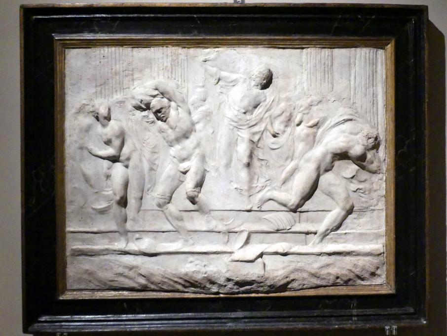Vincenzo Danti: Christus vertreibt die Händler aus dem Tempel, um 1570 - 1575