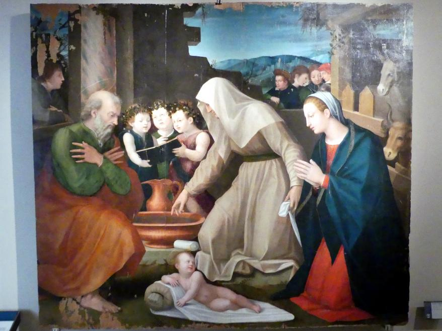 Domenico Alfani (Domenico di Paride Alfani): Anbetung des Christkindes, um 1536