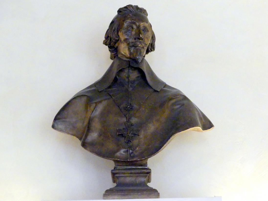 Büste von Kardinal Richelieu (Armand-Jean du Plessis, duc de Richelieu), Mitte 19. Jhd.