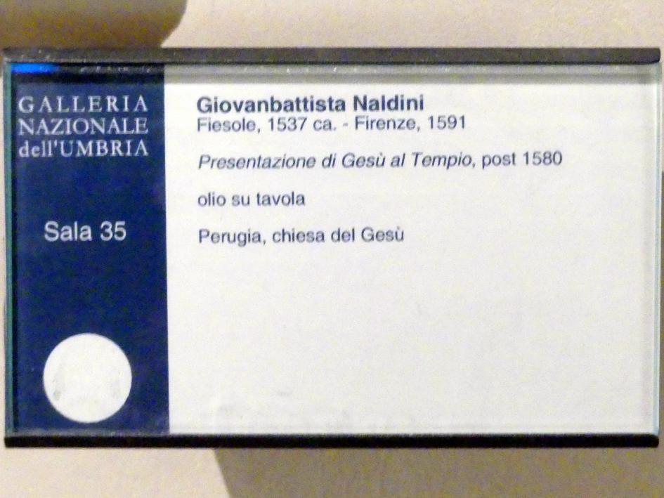 Giovanni Battista Naldini: Darstellung des Herrn, nach 1580, Bild 2/2
