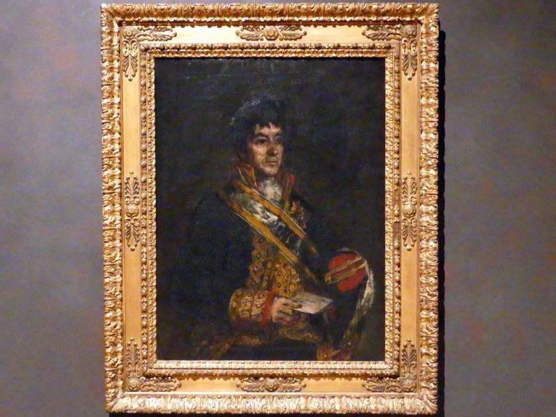 Francisco de Goya (Francisco José de Goya y Lucientes): Bildnis des Don Miguel de Lardizábal, 1815