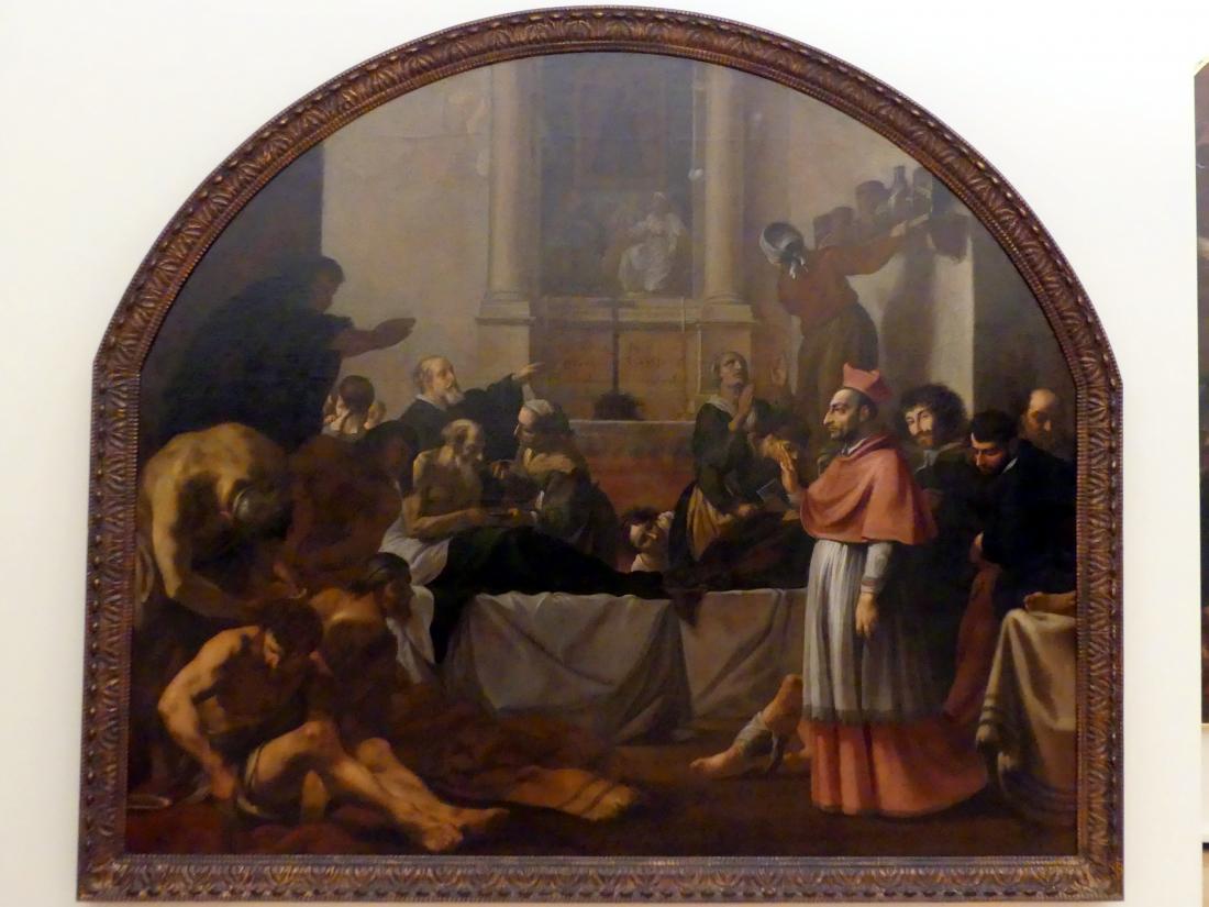 Karel Škréta: Der hl. Karl Borromäus besucht Pestkranke in Mailand, 1647
