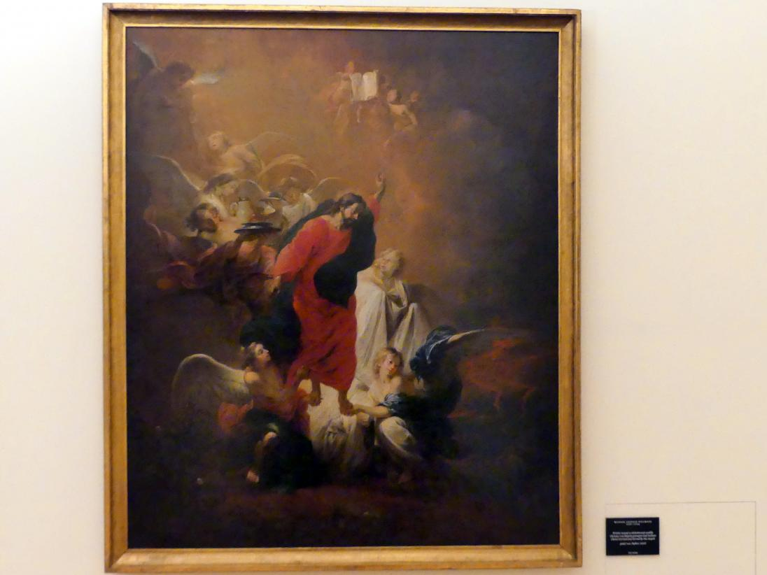 Michael Willmann: Christus von Engeln getragen und bedient, vor 1660