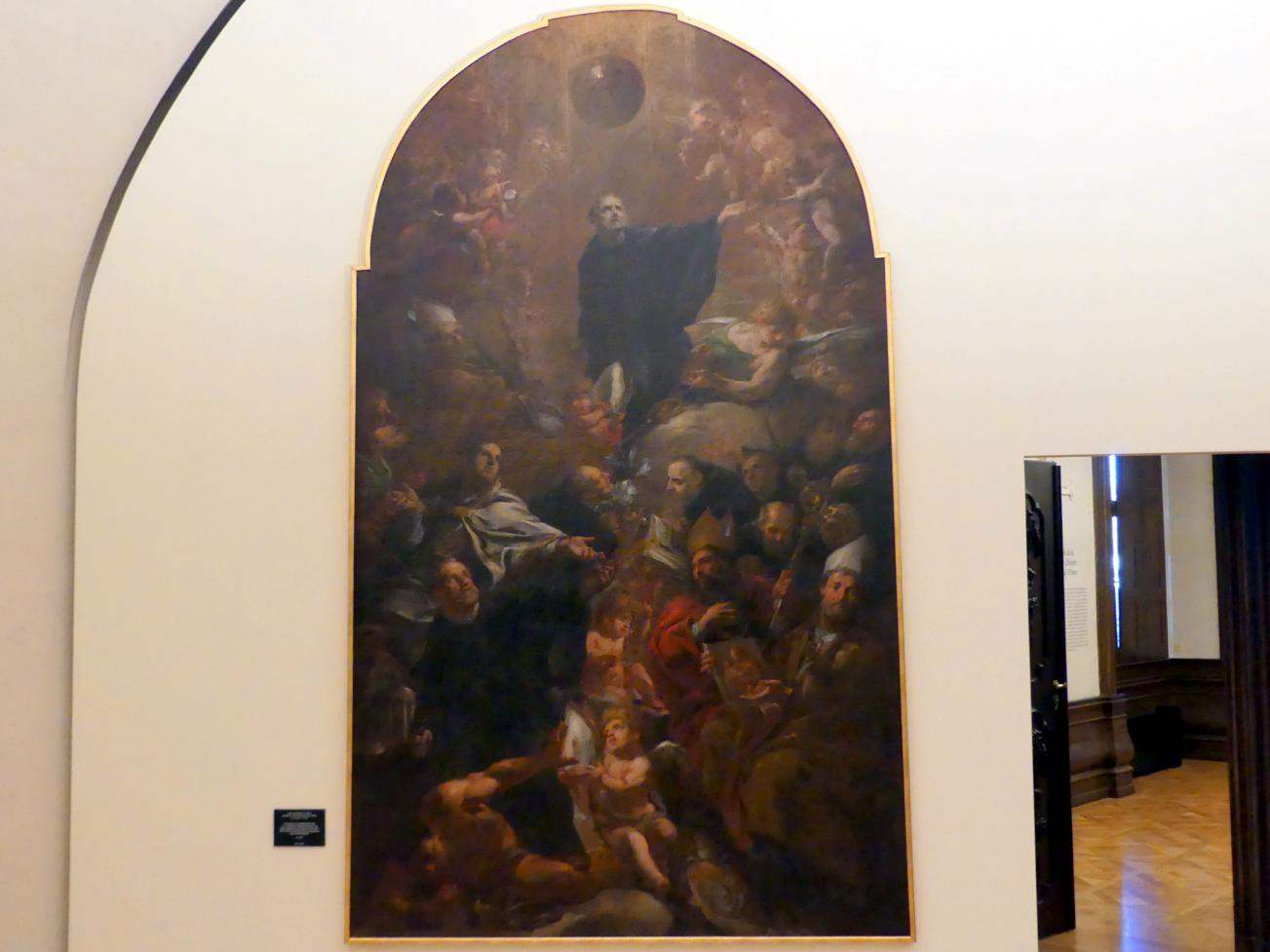 Johann Christoph Lischka: Böhmische Patrone aus dem Benediktinerorden mit dem hl. Benedikt, um 1693