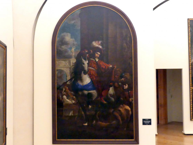 Karel Škréta: Der hl. Martin teilt seinen Mantel mit einem Bettler, nach 1650