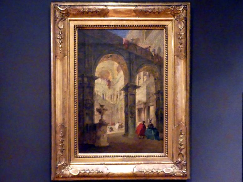 Francesco Guardi: Der Palasthof, 1775 - 1780