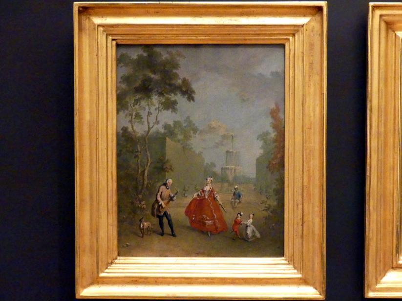 Norbert Grund: Menuett-Tänzerin (Galante Szene im Park II), um 1750 - 1760