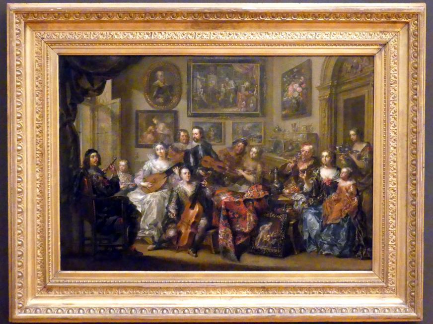 Johann Georg Platzer: Gesellschaft im Salon bei musikalischer Unterhaltung, Undatiert