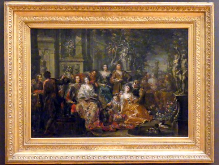 Johann Georg Platzer: Gesellschaft im Schlossgarten, Undatiert