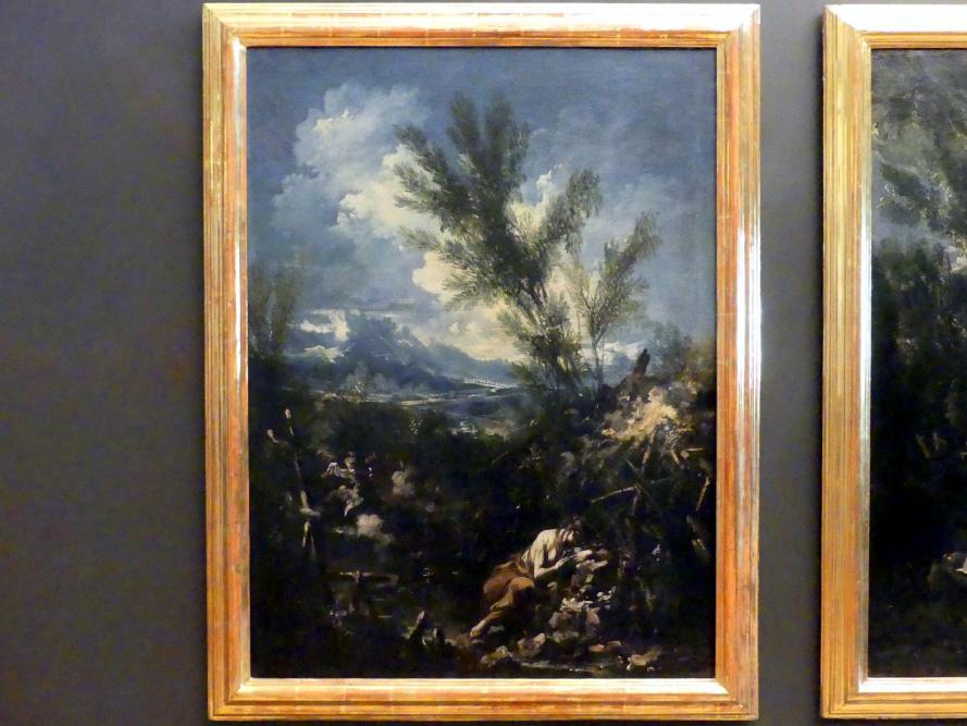 Alessandro Magnasco: Landschaft mit hl. Magdalena als Büßerin, Undatiert