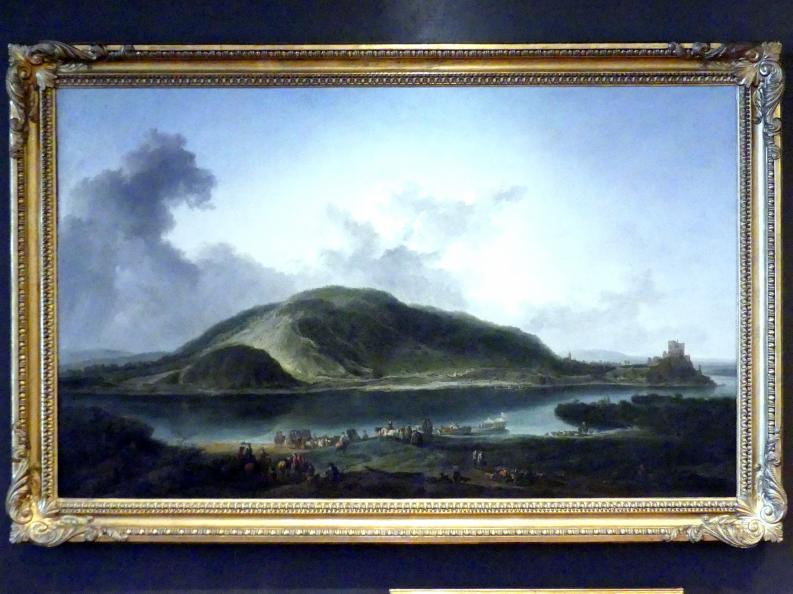 Johann Christian Brand: Landschaft mit Burg Theben an der Mündung der March in die Donau, 1752 - 1753
