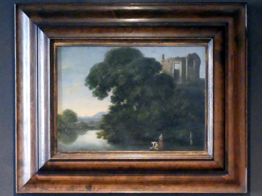 Filippo Napoletano (Filippo d'Angeli): Landschaft mit Vesta-Tempel bei Tivoli, Undatiert, Bild 1/2
