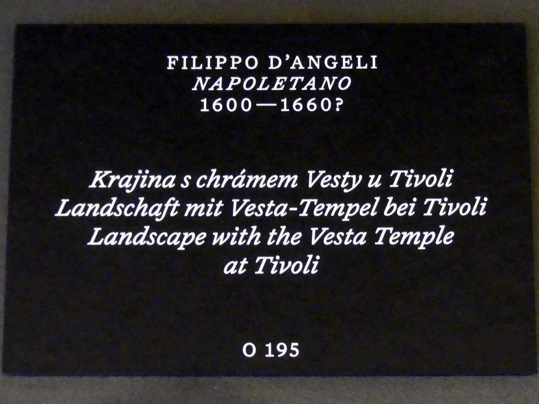 Filippo Napoletano (Filippo d'Angeli): Landschaft mit Vesta-Tempel bei Tivoli, Undatiert, Bild 2/2