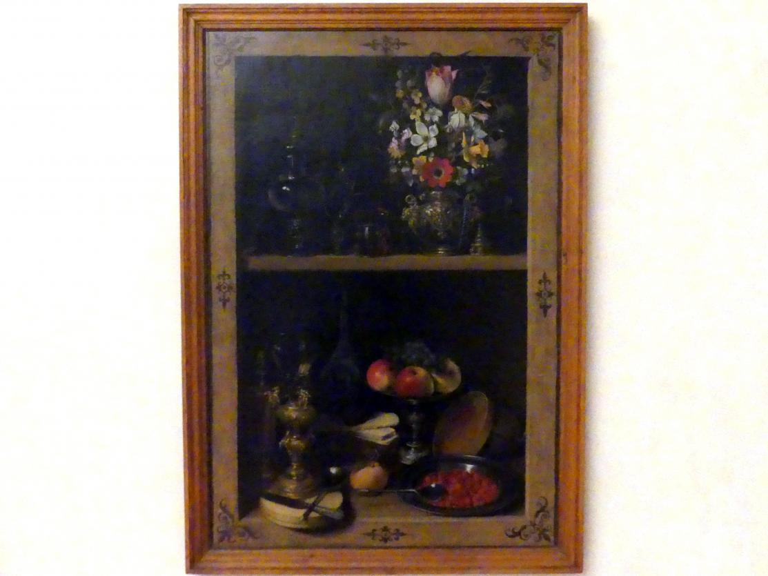 Georg Flegel: Regal mit Obst und Blumen, 1610 - 1620