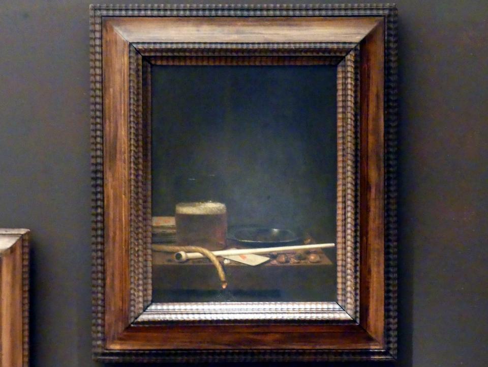 Jan Jansz van de Velde: Stillleben mit Raucherutensilien, 1647